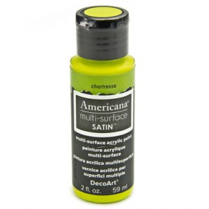 Multi Surface Satins Acrylics Chartreuse
