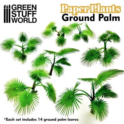 Papieren plant grond palm (laser cut)