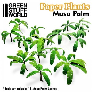 Papieren plant bananen musa (laser cut)