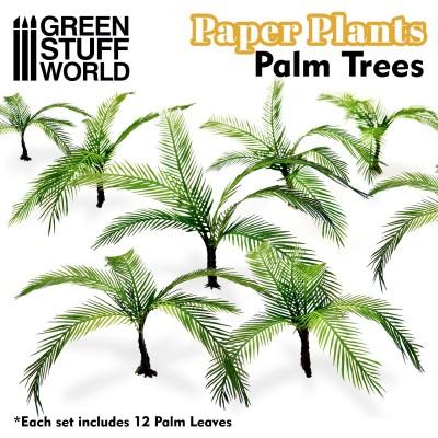 Papieren plant palm boom (laser cut)
