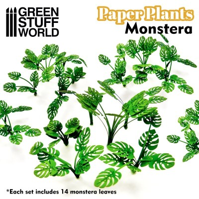 Papieren plant monstera (laser cut)