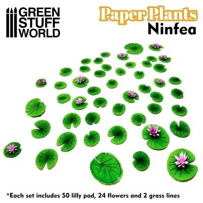 Papieren plant Lelie (laser cut)