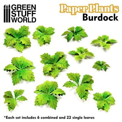 Papieren plant burdock of klit (laser cut)