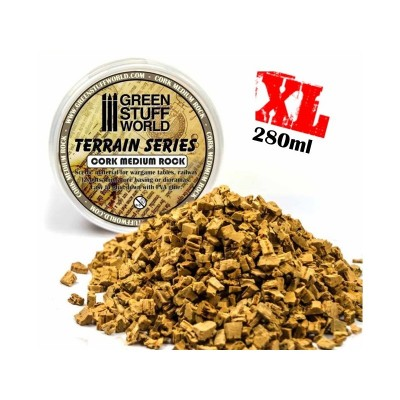 Medium Rock Basing Grit (kurk) - 280 ml - XL