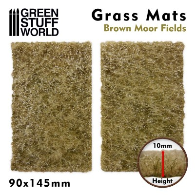 Grasmat bruine heidevelden