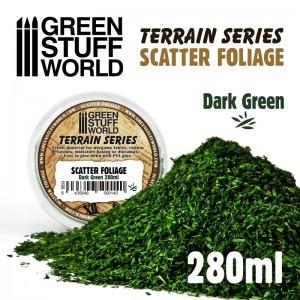 Scatter foliage - strooi blad (donker groen)