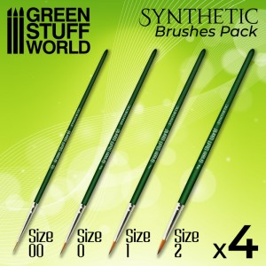 Synthetishe Penselen set GreenStuffWorld
