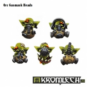 Orc Gasmask Heads (10st)