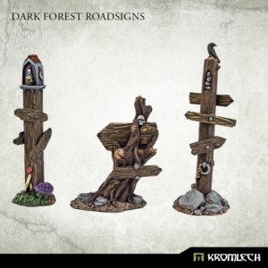 Dark Forest Road Signs (3st)