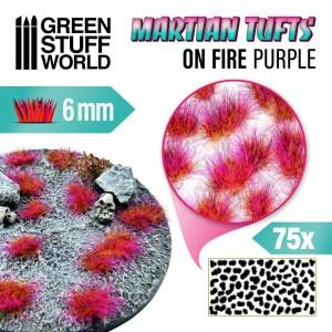 Grasmat - weiland met paarse bloemen --2 vellen - cut out