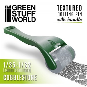 Rolling pin Cobblestone 15mm - figuur roller straatkei 15mm