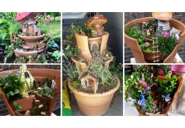 Workshop gebroken pot fairy garden thema lente/zomer