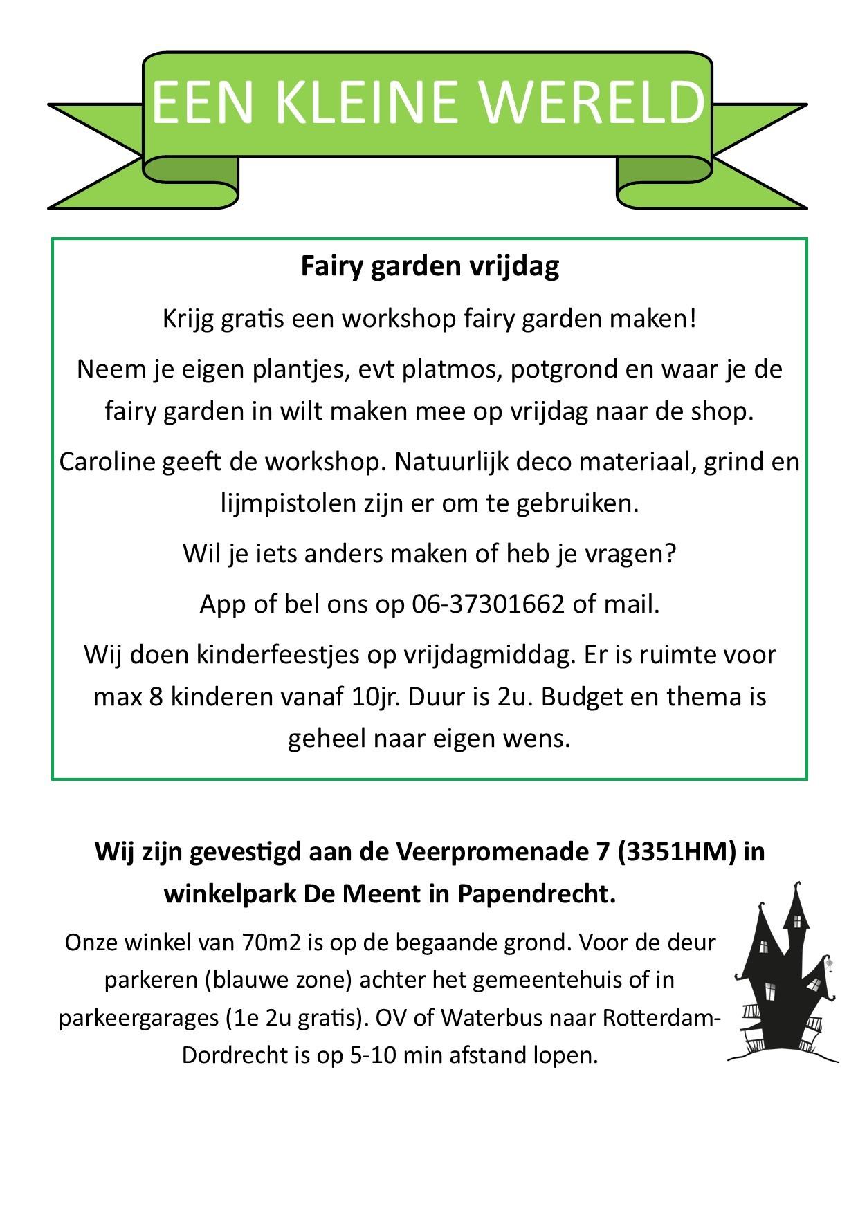 Fairy garden vrijdag