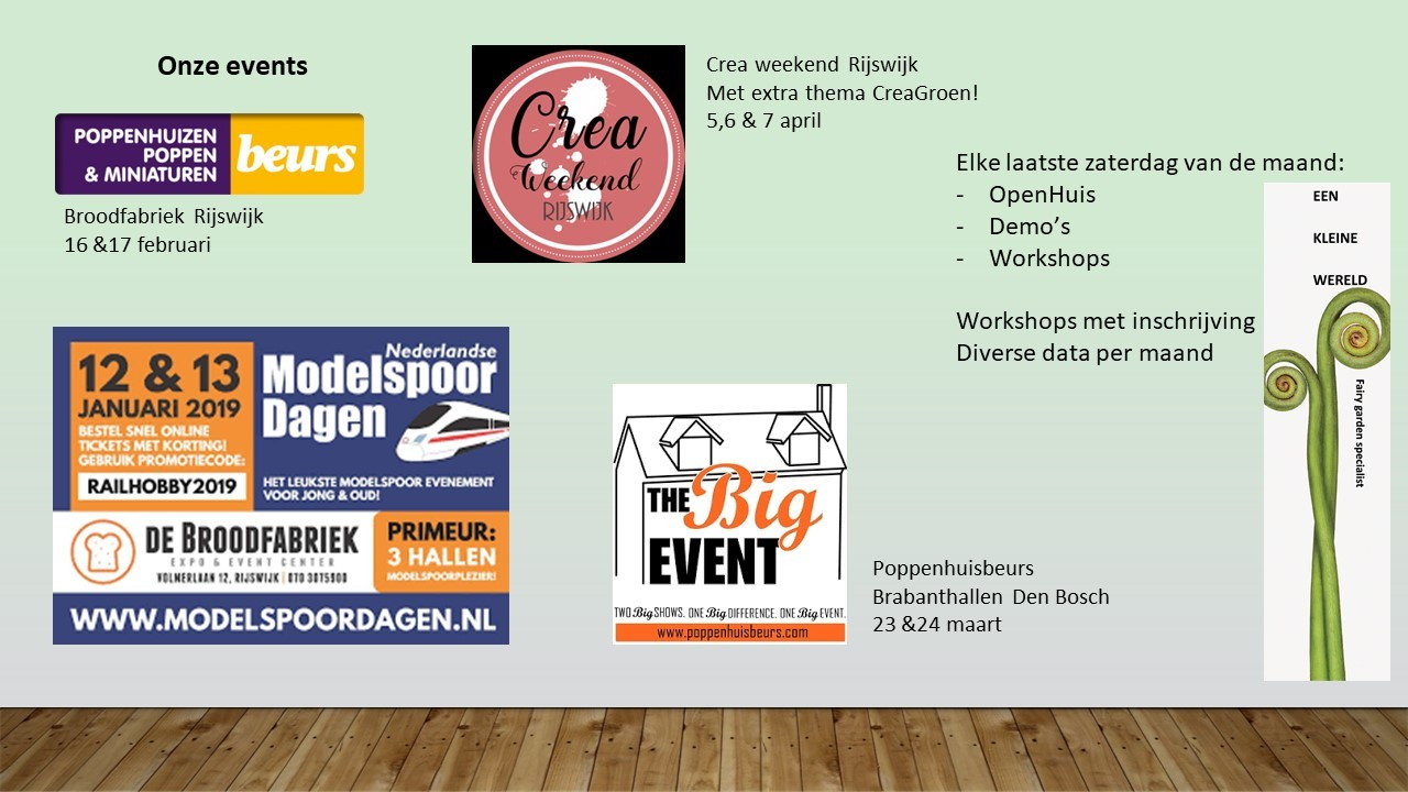 Beurzen, workshops en events